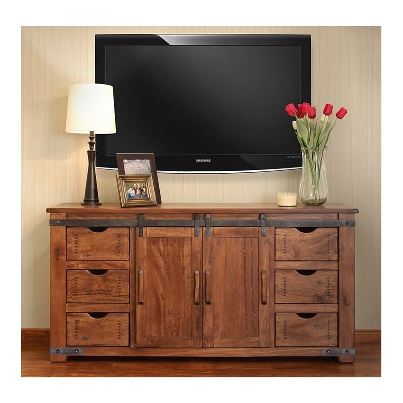 """60"""" Tv Stand W/6 Drawer, 1 Door W/2 Shelves With Regard To Manhattan 2 Drawer Media Tv Stands (View 4 of 20)"""