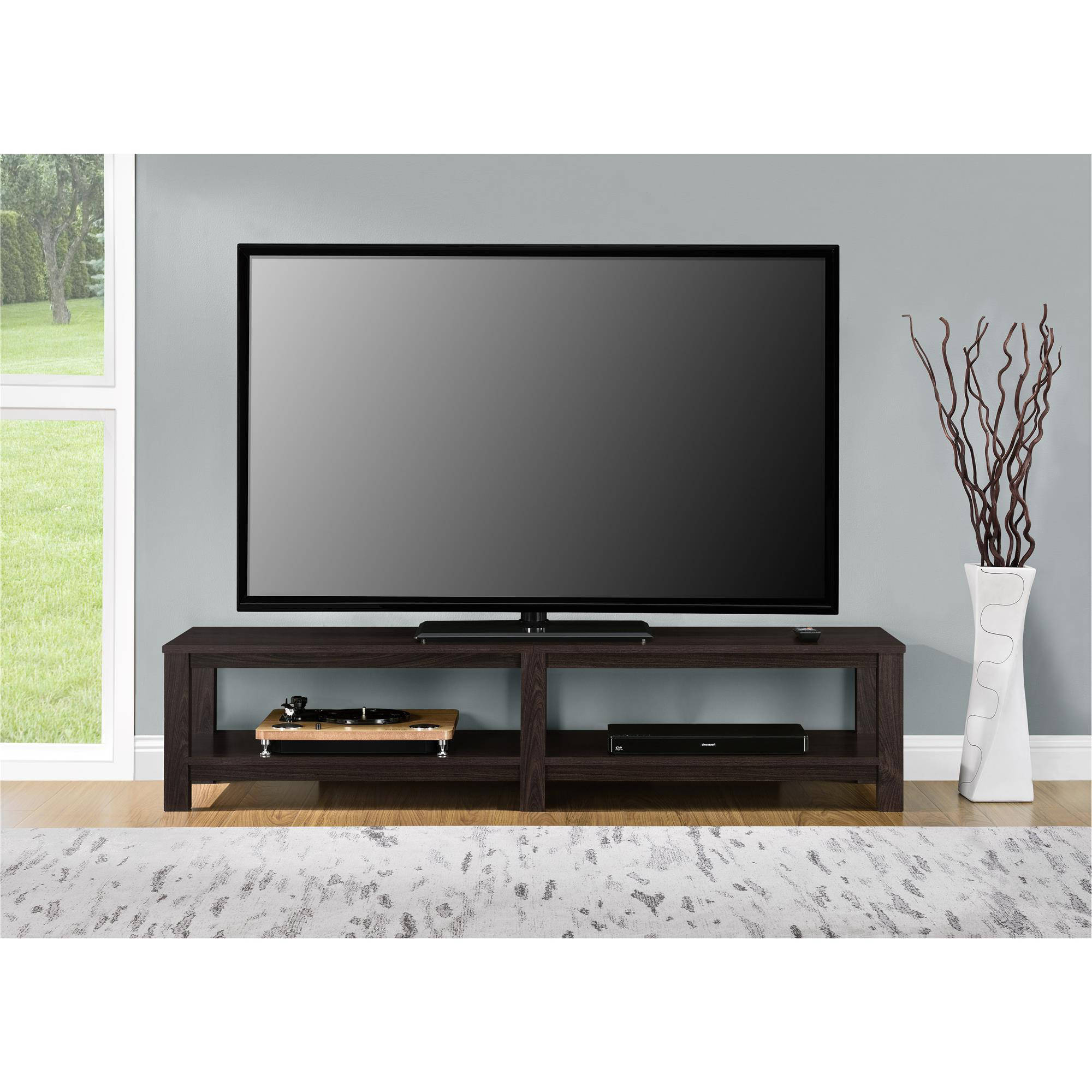 65 Inch Tv Media Entertainment Stand Console Table Mount Pertaining To Mainstays Parsons Tv Stands With Multiple Finishes (View 1 of 20)