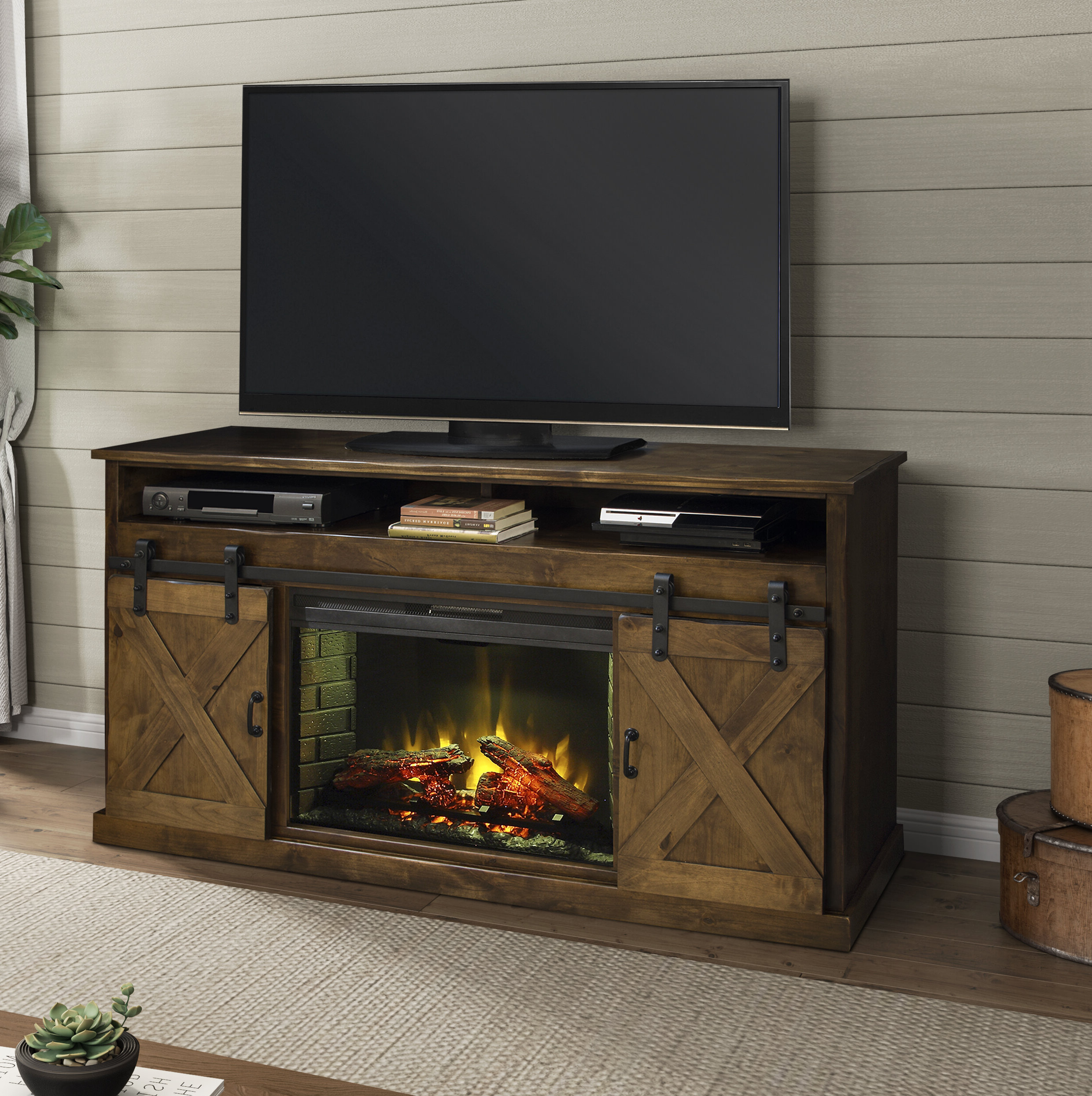 """65 Inch Tv Stand With Fireplace In Jowers Tv Stands For Tvs Up To 65"""" (View 13 of 20)"""