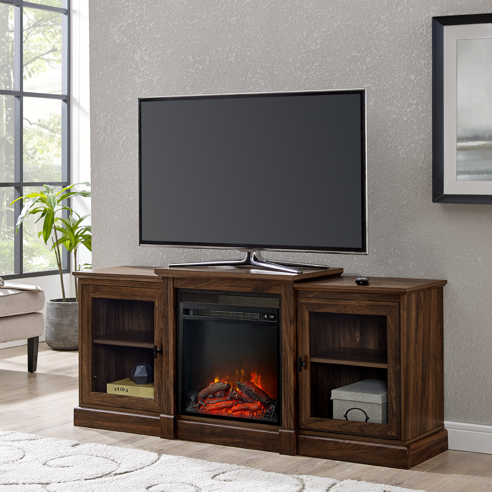 """65 Inch Tv Stand With Fireplace Pertaining To Calea Tv Stands For Tvs Up To 65"""" (View 5 of 20)"""