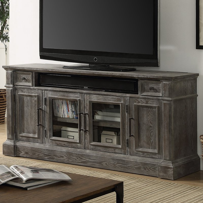 """65 Inch Vintage Smoke Gray Tv Stand – Gramercy Park 