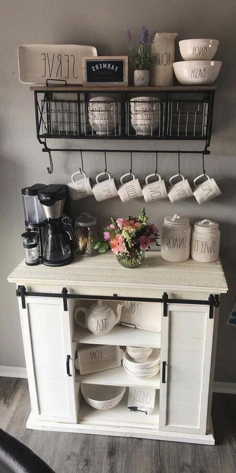 7 Ideas De Barras De Café En Casa En 2021 | Barras De Café Pertaining To Woven Paths Farmhouse Sliding Barn Door Tv Stands With Multiple Finishes (View 14 of 14)