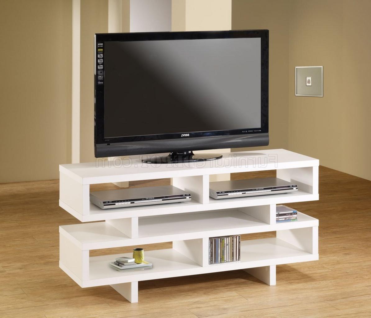 700721 Tv Stand In Whitecoaster Regarding Simple Open Storage Shelf Corner Tv Stands (View 5 of 20)