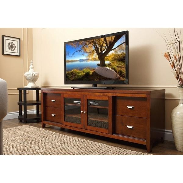Abbyson Living Clarkston 72 Inch Walnut Wood Tv Console Regarding Wide Tv Stands Entertainment Center Columbia Walnut/black (View 12 of 20)