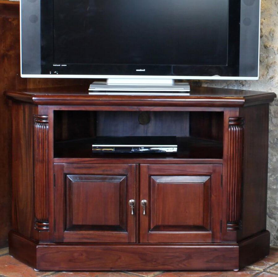 Abdabs Furniture – La Roque Mahogany Corner Tv Cabinet For Corona Grey Corner Tv Stands (View 14 of 20)