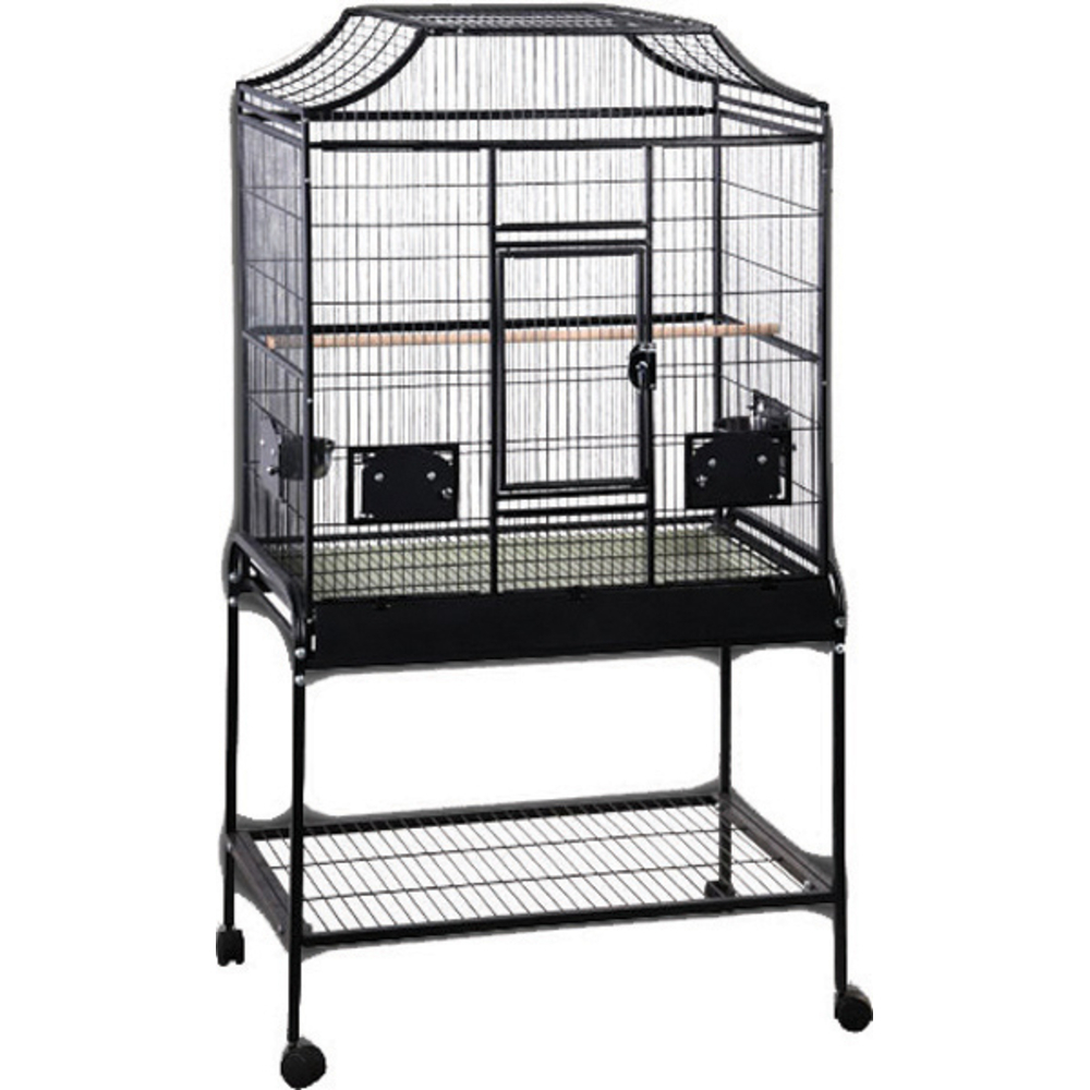 A&e Cage 001359 Elegant Style Flight Bird Stand   Ebay Intended For Large Rolling Tv Stands On Wheels With Black Finish Metal Shelf (View 6 of 20)