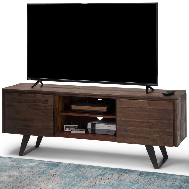 """Allmodern Midway Solid Wood Tv Stand For Tvs Up To 70 Intended For Lorraine Tv Stands For Tvs Up To 70"""" (View 18 of 20)"""