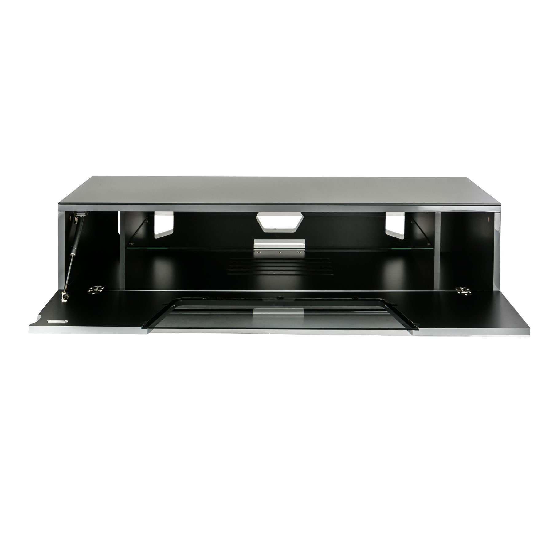 """Alphason Chromium 2 120cm Grey Tv Stand For Up To 60"""" Tvs For Chromium Tv Stands (View 5 of 20)"""