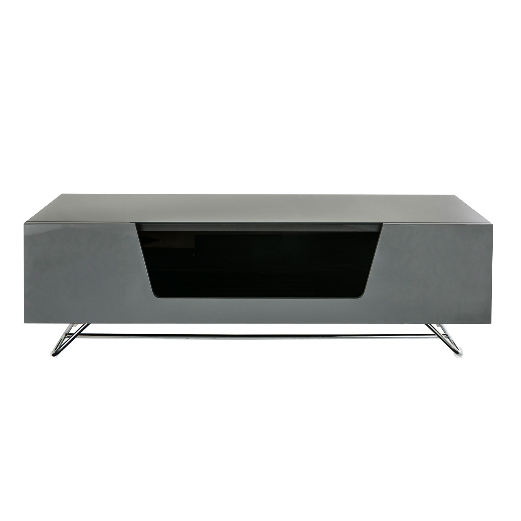 """Alphason Chromium 2 120cm Grey Tv Stand For Up To 60"""" Tvs Pertaining To Chromium Tv Stands (View 1 of 20)"""