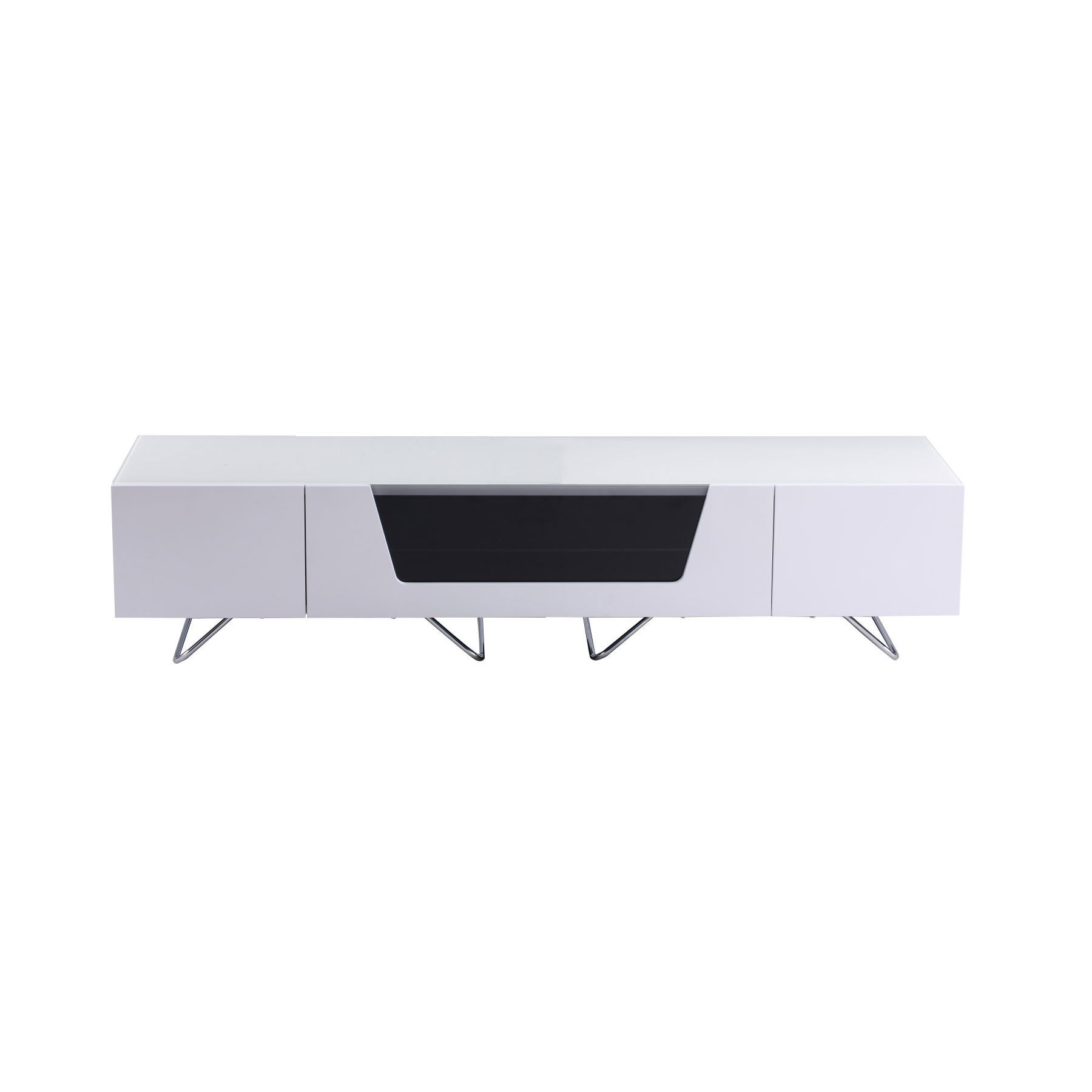 """Alphason Chromium 2 160cm White Tv Stand For Up To 75"""" Tvs With Regard To Chromium Tv Stands (View 11 of 20)"""