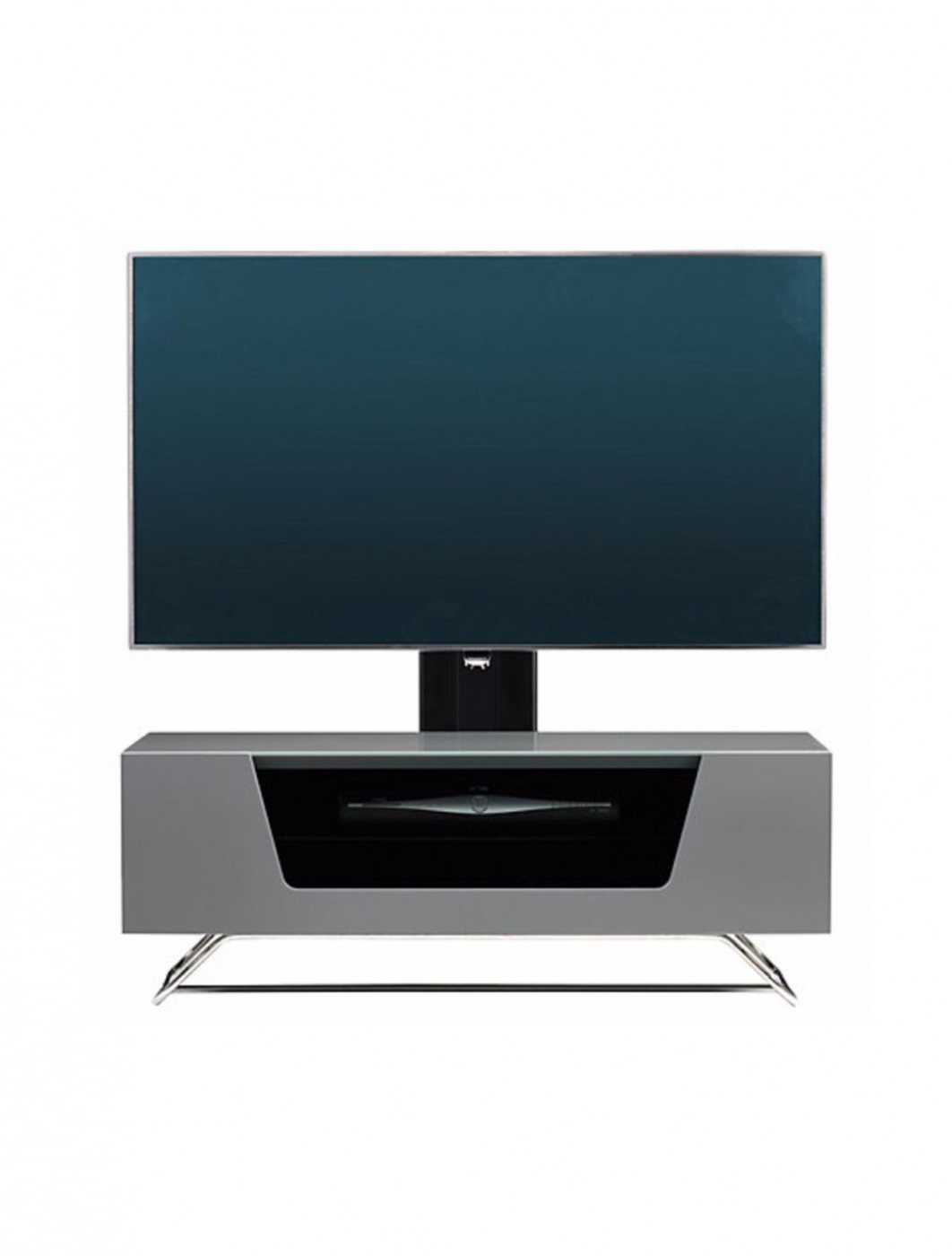 Alphason Chromium Cantilever Tv Stand Cro2 1200bkt Gr Pertaining To Chromium Tv Stands (View 10 of 20)