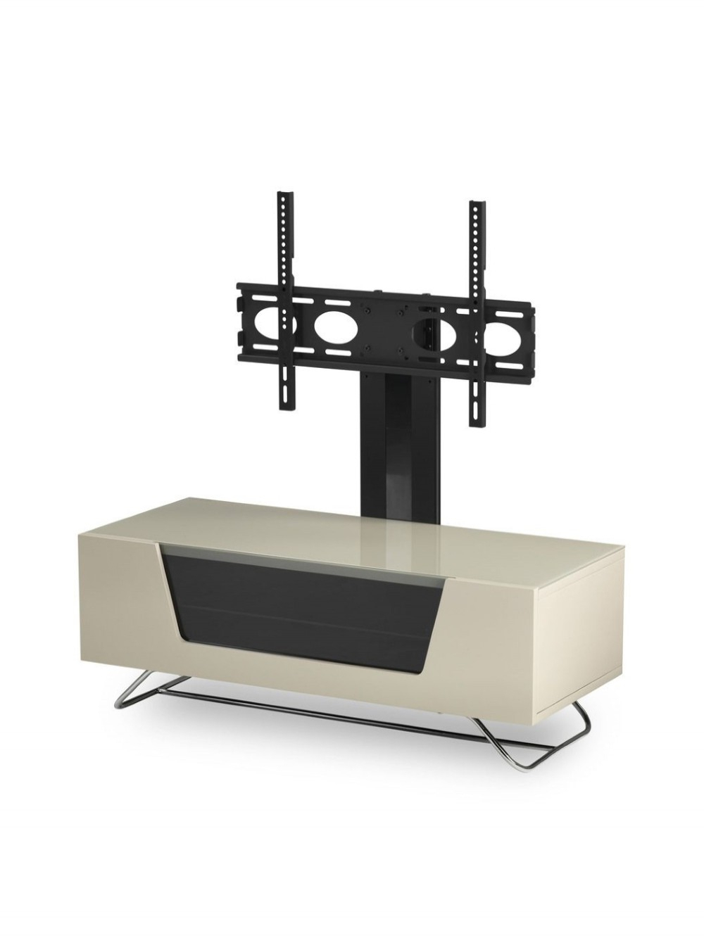 Alphason Chromium Cantilever Tv Stand Cro2 1200bkt Iv Inside Chromium Tv Stands (View 14 of 20)