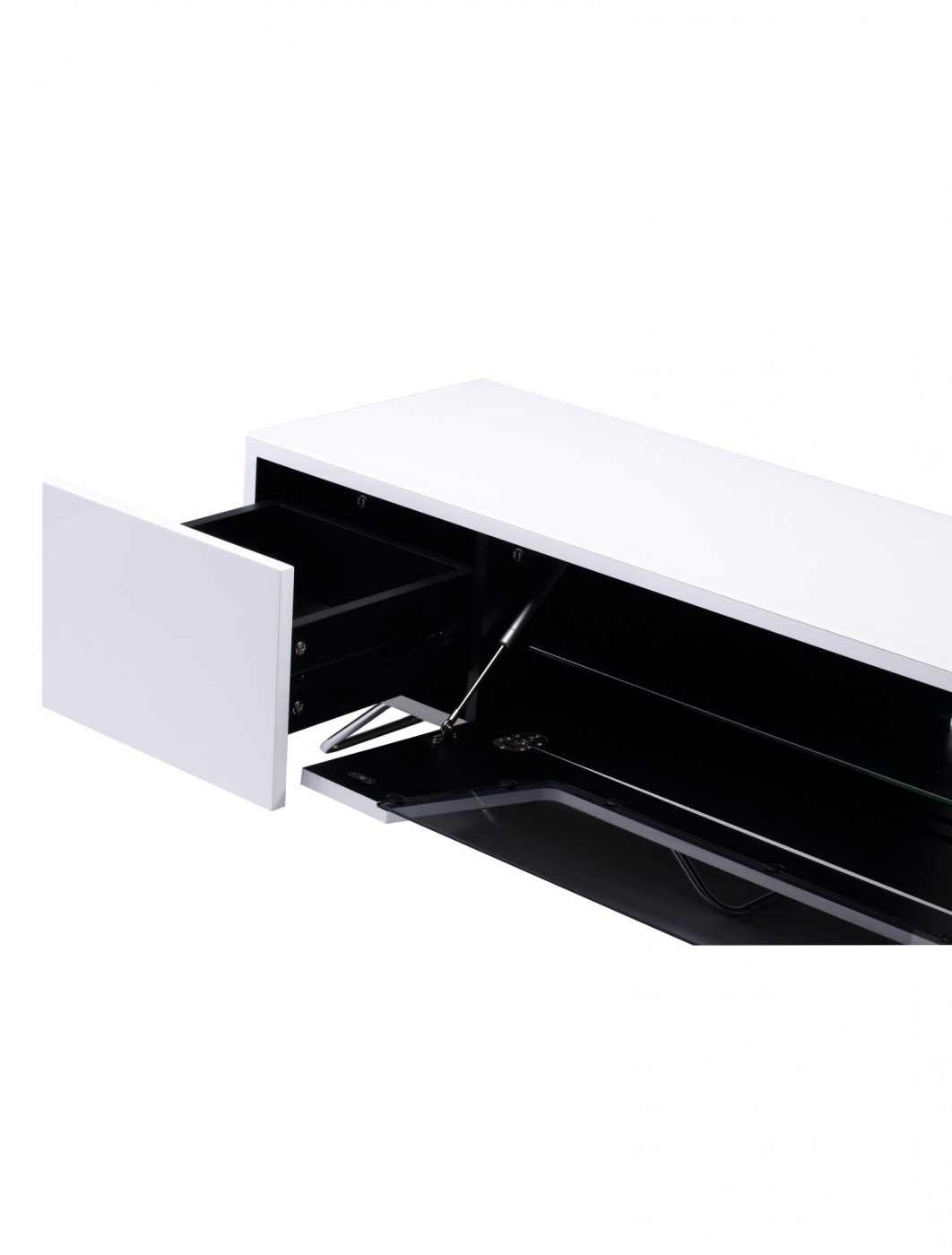 Alphason Chromium Cantilever Tv Stand Cro2 1600bkt Wh Inside Chromium Tv Stands (View 18 of 20)