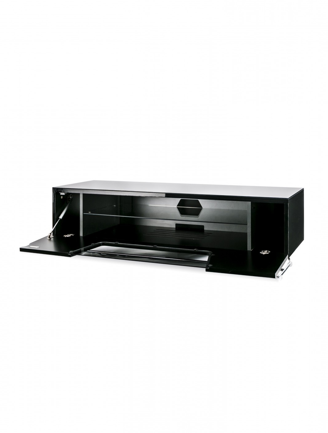 Alphason Chromium Tv Stand Cro2 1200cb Blk   121 Tv Mounts Within Chromium Tv Stands (View 17 of 20)