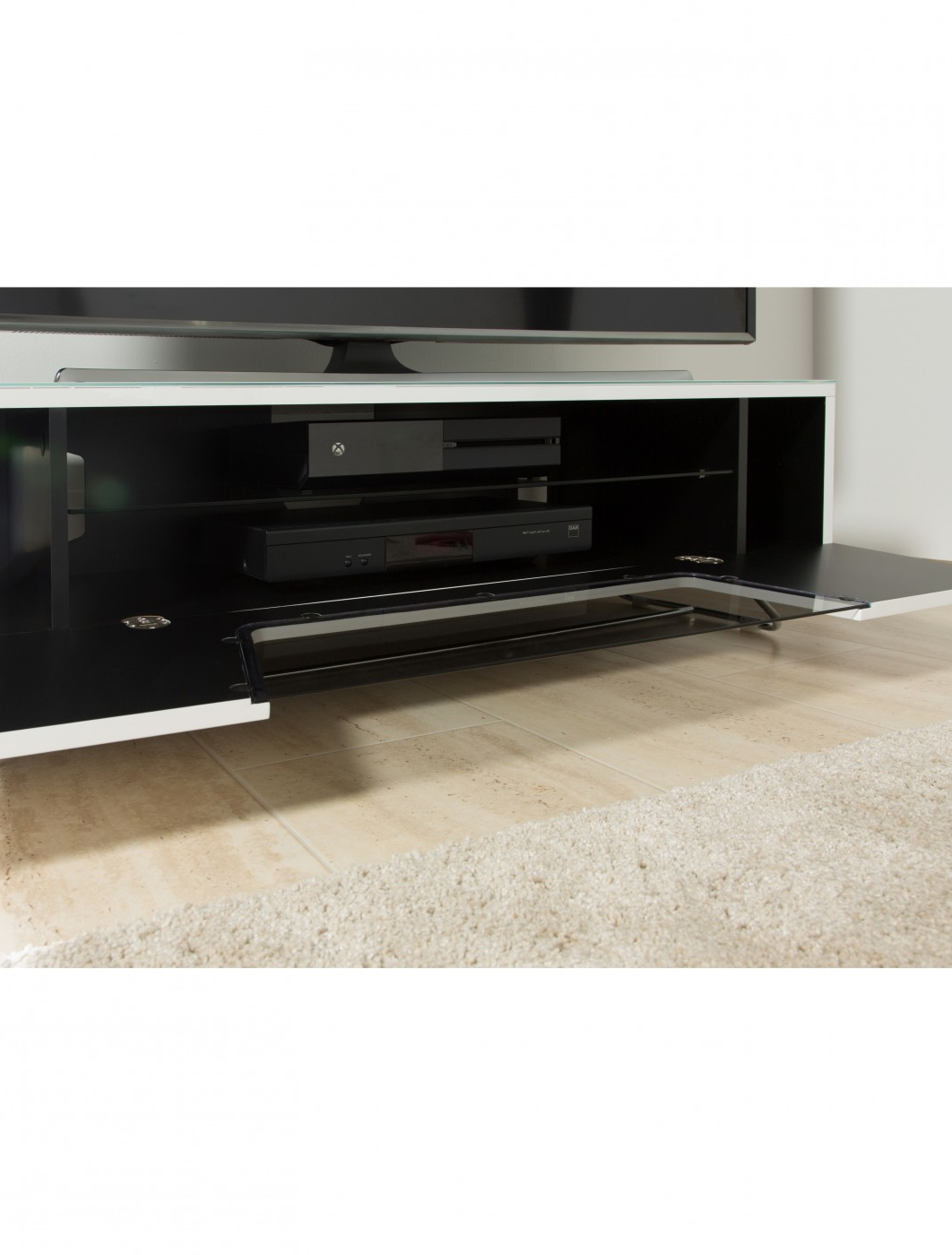 Alphason Chromium Tv Stand Cro2 1200cb Wht   121 Tv Mounts Intended For Chromium Tv Stands (View 3 of 20)