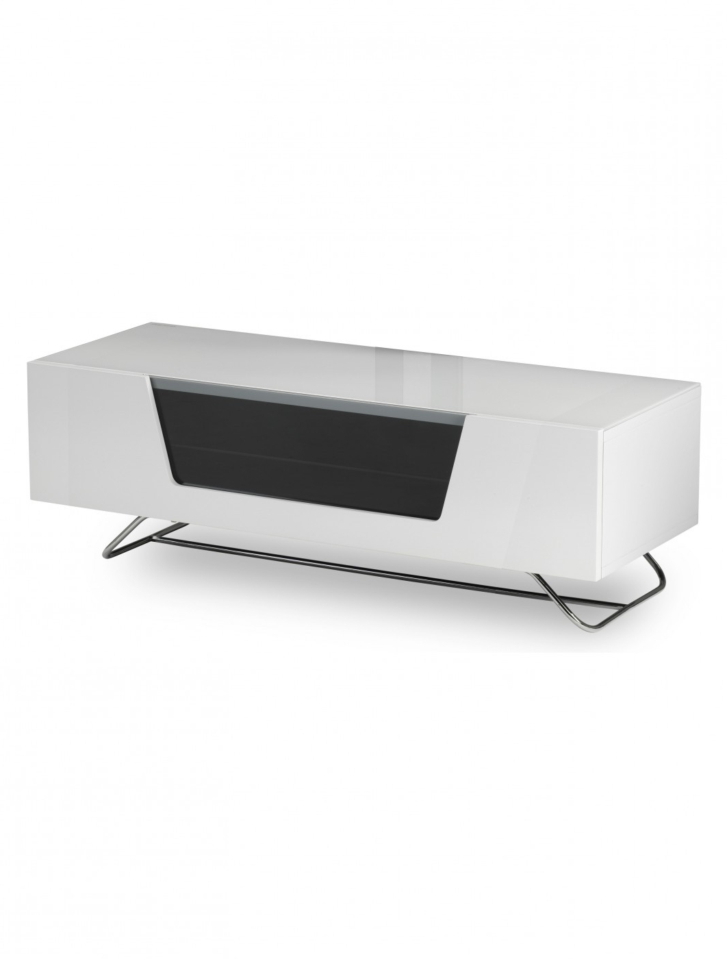 Alphason Chromium Tv Stand Cro2 1200cb Wht   121 Tv Mounts Within Chromium Tv Stands (View 9 of 20)