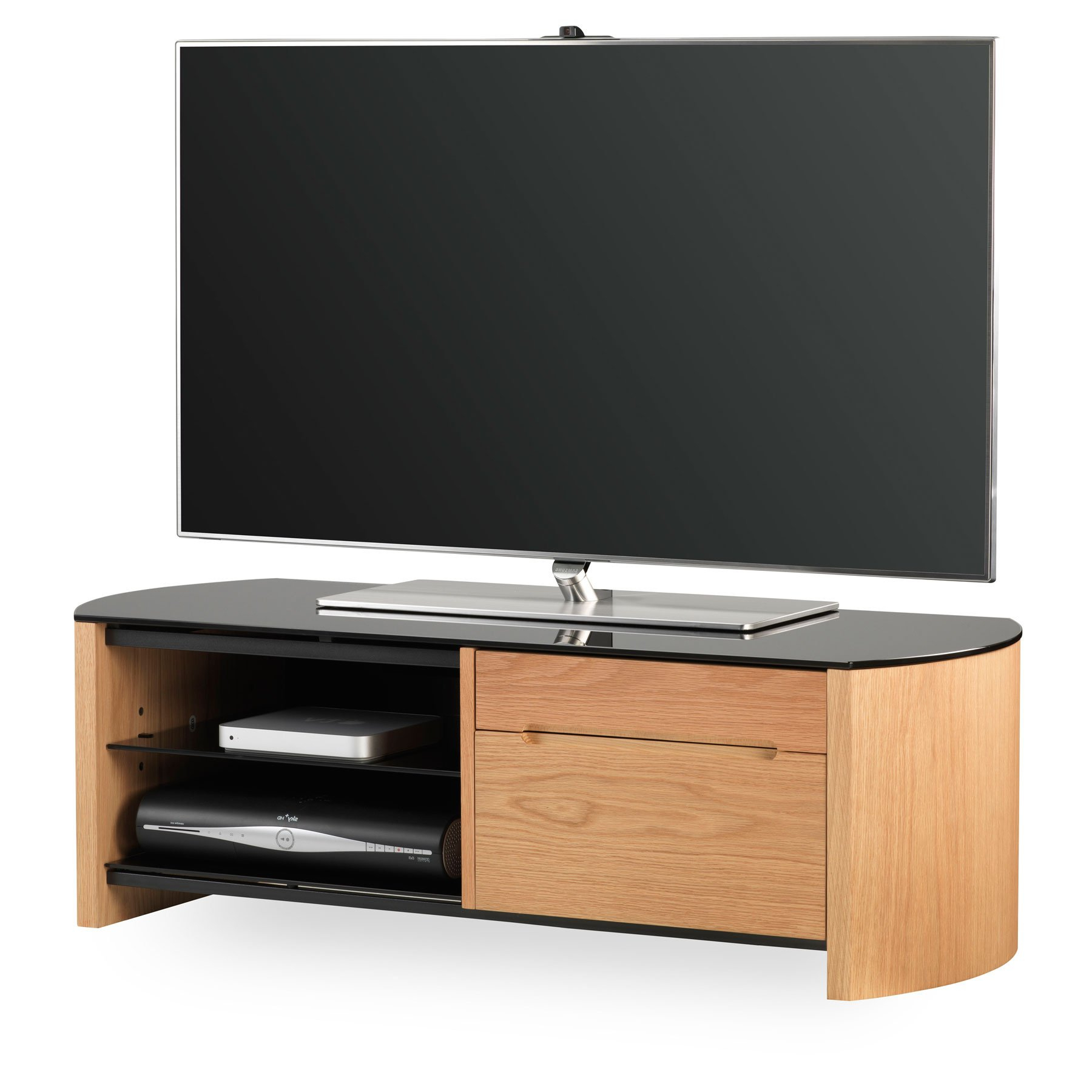 """Alphason Finewood Fw1100cb Light Oak Tv Stand For Up To 50 Intended For Leonid Tv Stands For Tvs Up To 50"""" (View 4 of 20)"""