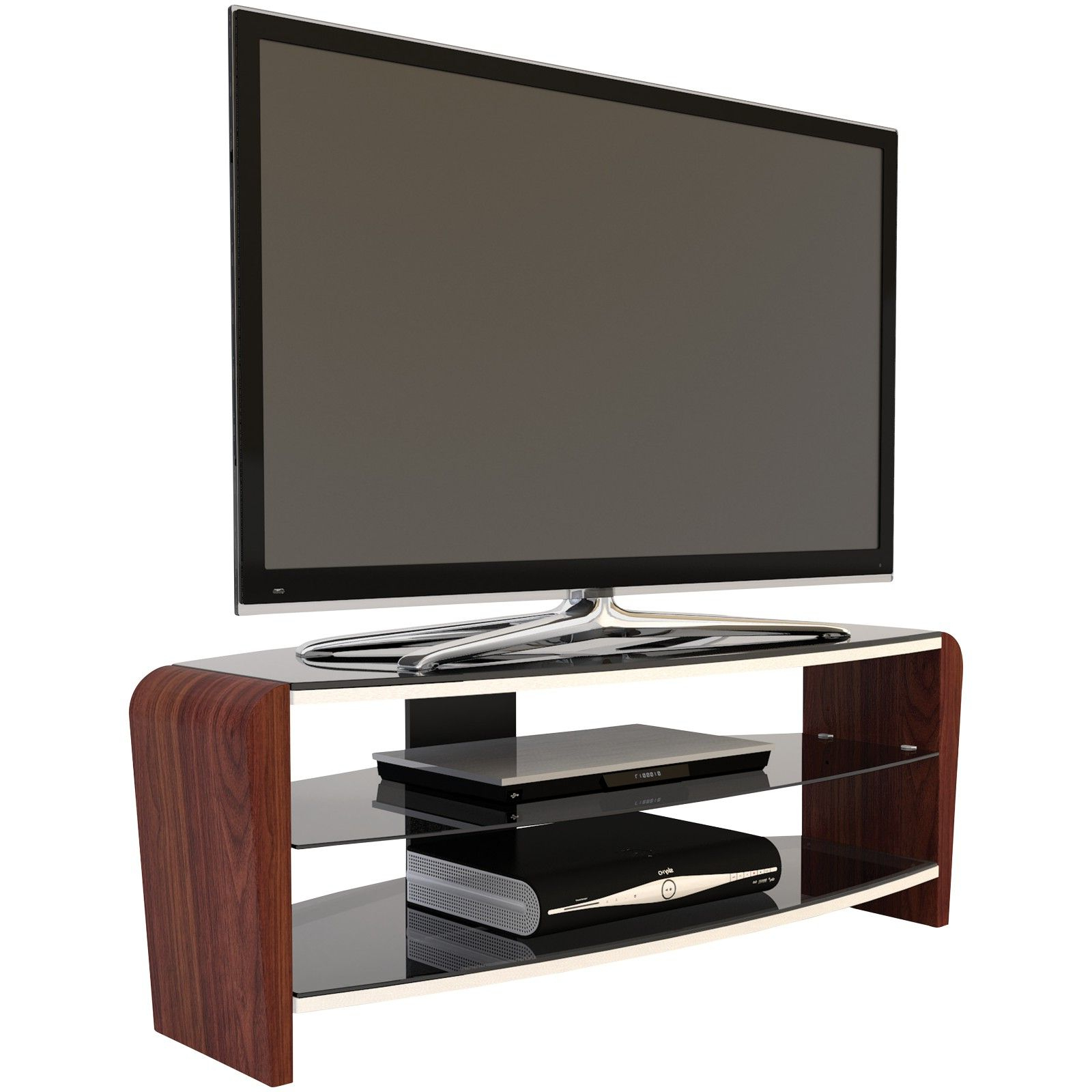 Alphason Francium 110 Tv Stand For Tvs Up To 50 On Sale In In Exhibit Corner Tv Stands (View 12 of 20)