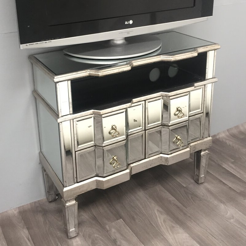 Alterton Vintage Mirrored Range Tv Stand For Tvs Up To 48 With Regard To Fitzgerald Mirrored Tv Stands (View 5 of 20)