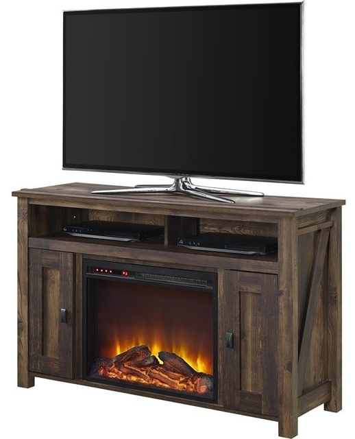 """Altra Furniture Farmington 50"""" Fireplace Tv Stand Throughout Emmett Sonoma Tv Stands With Coffee Table With Metal Frame (View 1 of 20)"""