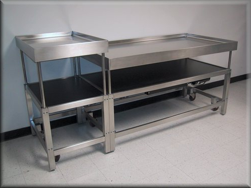 Aluminium Profiles Work Table – Aluminum Assembly Table Intended For Large Rolling Tv Stands On Wheels With Black Finish Metal Shelf (View 5 of 20)