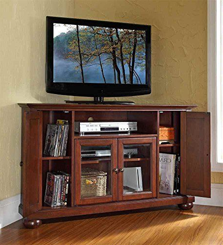 """Amazon – Crosley Furniture Alexandria 48 Inch Corner Throughout Alexandria Corner Tv Stands For Tvs Up To 48"""" Mahogany (View 1 of 20)"""