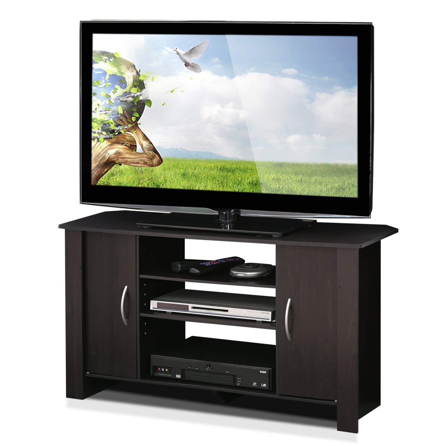 Amazon: Furinno Econ Tv Stand Entertainment Center For Furinno Jaya Large Entertainment Center Tv Stands (View 16 of 20)