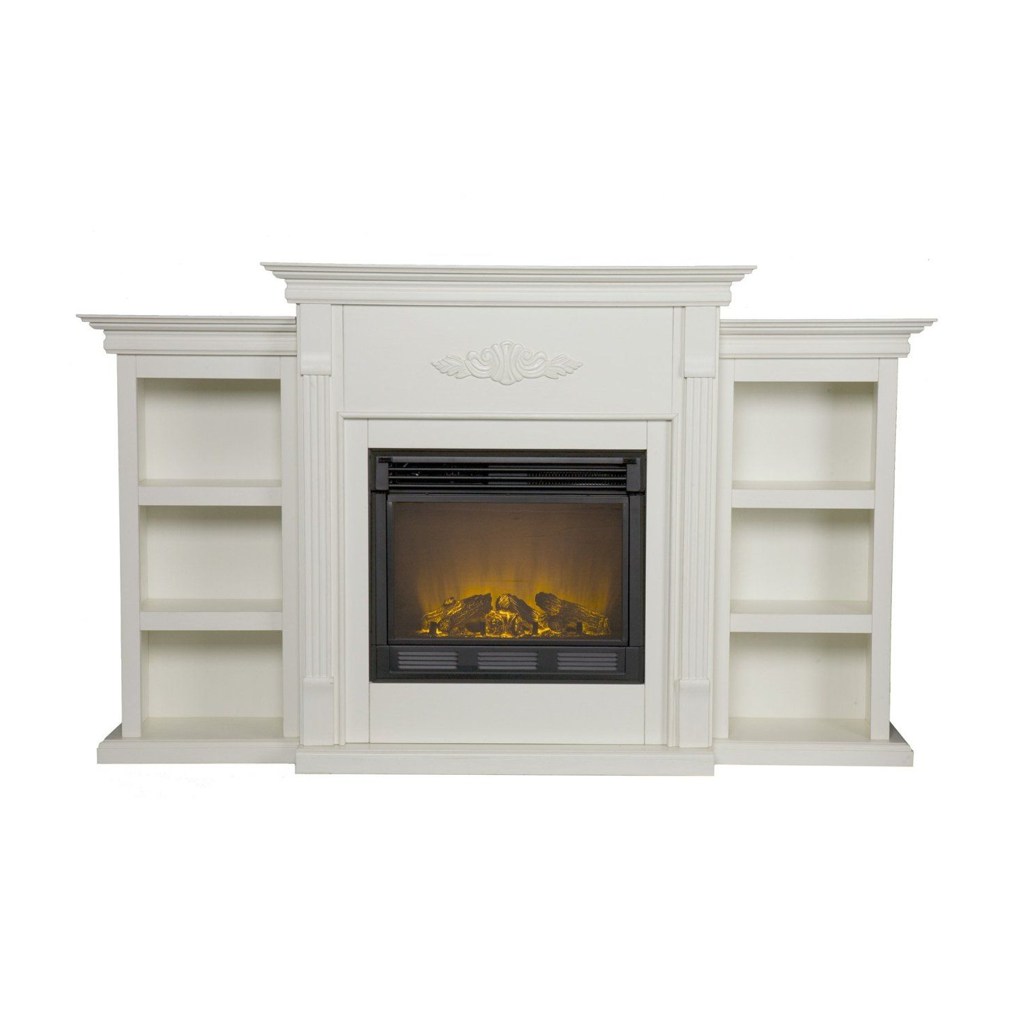 Amazon – Sei Tennyson Electric Fireplace With With Regard To Compton Ivory Extra Wide Tv Stands (View 9 of 20)