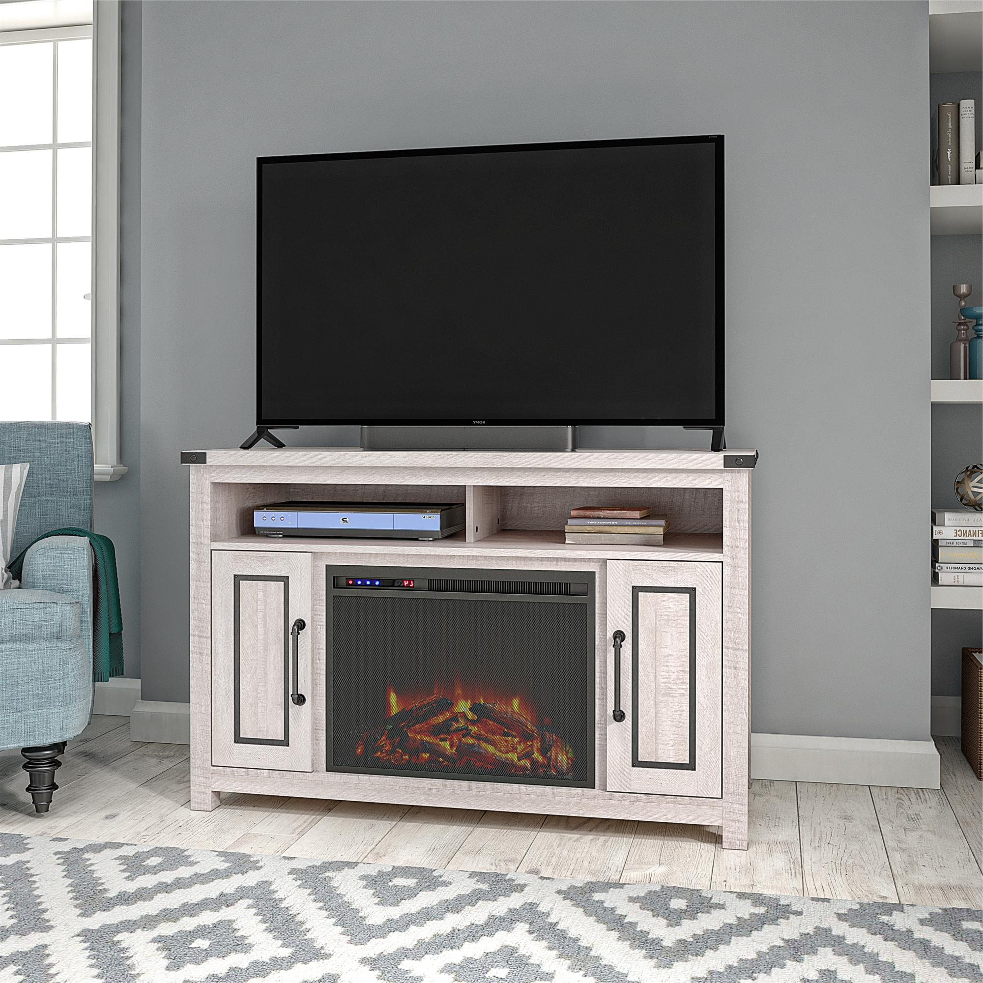 """Ameriwood Home Avanta Fireplace Tv Stand For Tvs Up To 48 Regarding Kinsella Tv Stands For Tvs Up To 70"""" (View 15 of 20)"""
