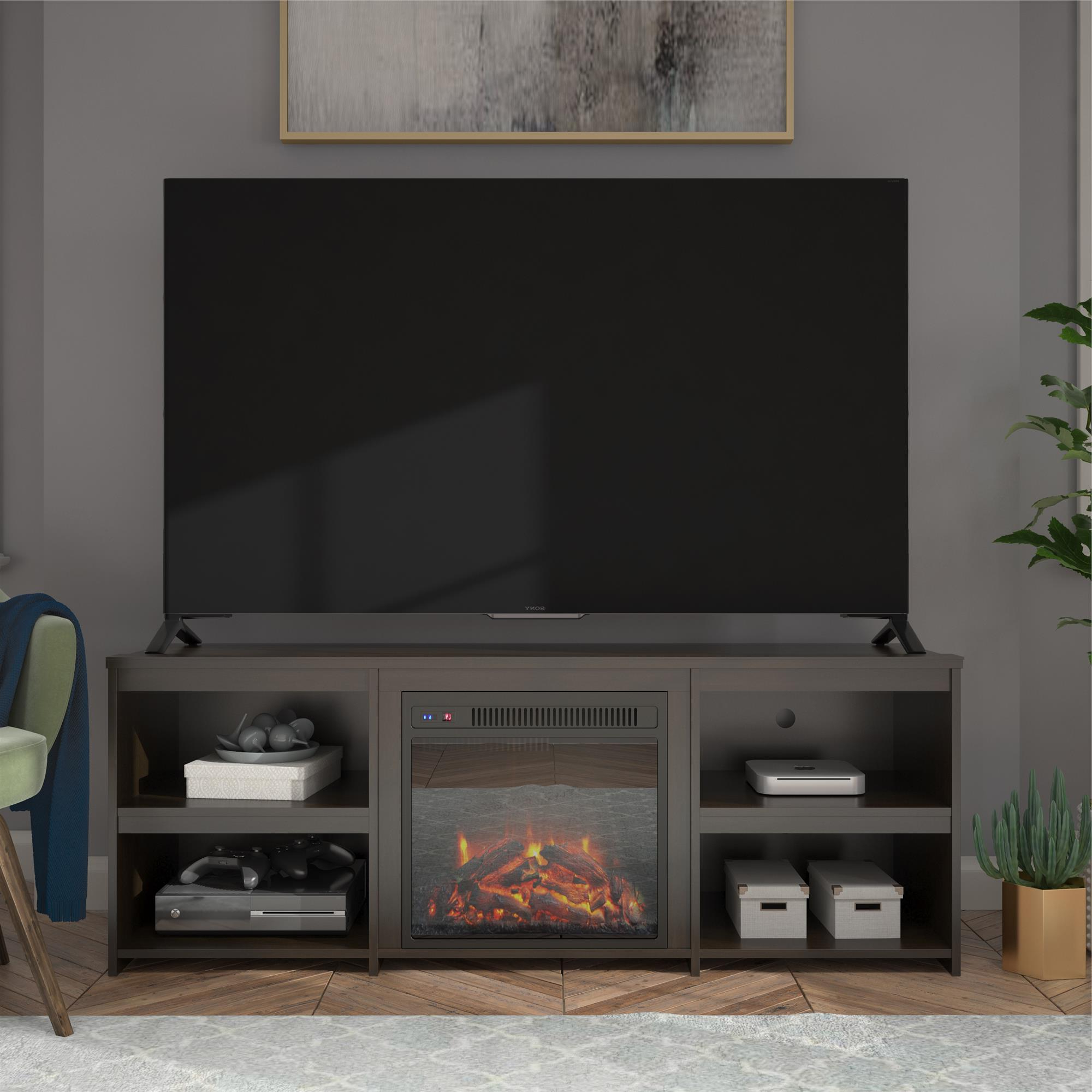 """Ameriwood Home Bannack Fireplace Tv Stand For Tvs Up To 65 Within Grenier Tv Stands For Tvs Up To 65"""" (View 7 of 20)"""