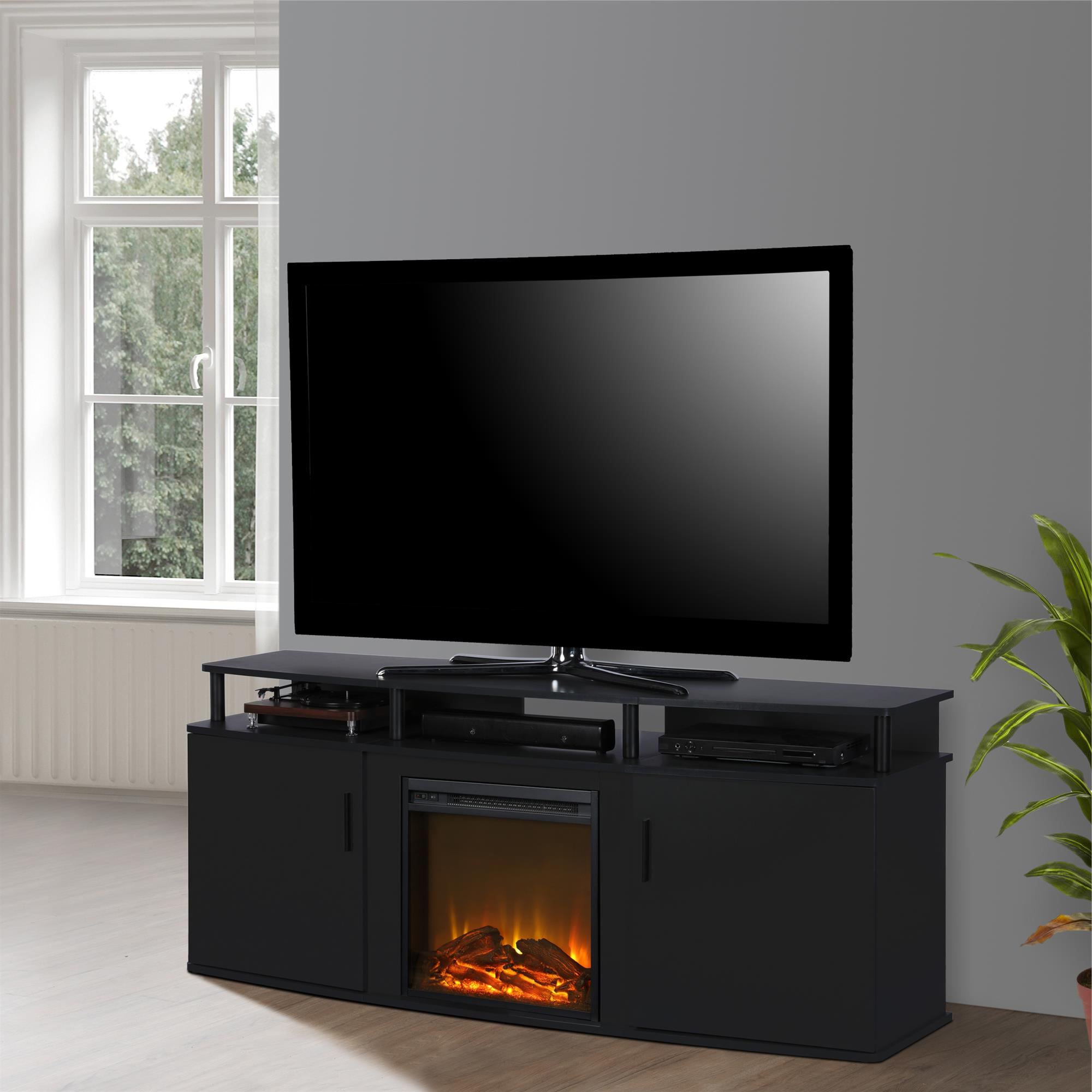 """Ameriwood Home Carson Electric Fireplace Tv Console For In Chicago Tv Stands For Tvs Up To 70"""" With Fireplace Included (View 4 of 20)"""