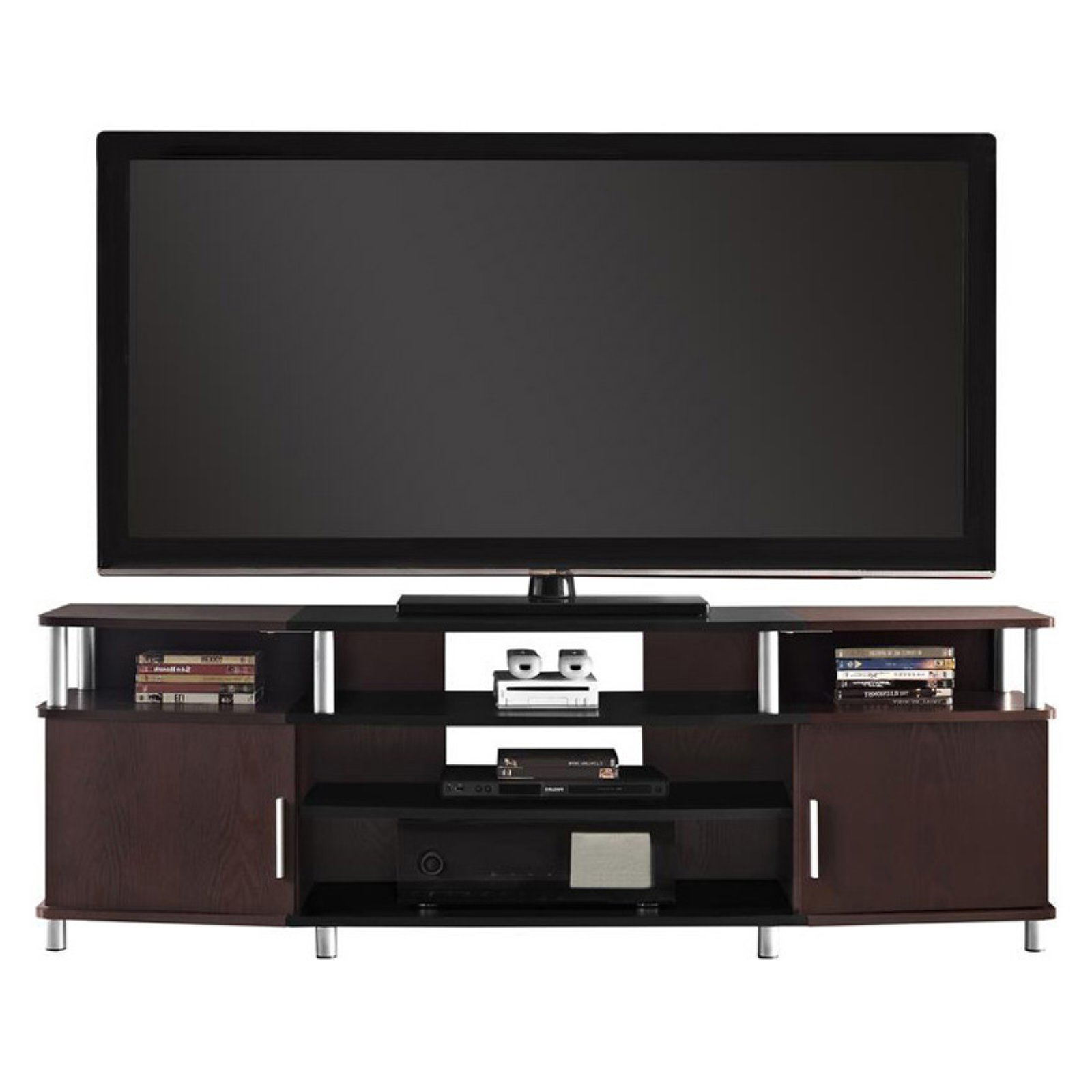 """Ameriwood Home Carson Tv Stand For Tvs Up To 70"""", Multiple Regarding Carson Tv Stands In Black And Cherry (View 6 of 20)"""
