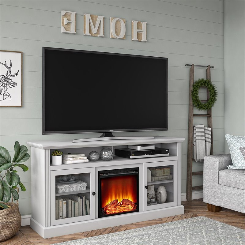 """Ameriwood Home Chicago Fireplace Tv Stand Up To 65"""" In In Colleen Tv Stands For Tvs Up To 50"""" (View 17 of 20)"""