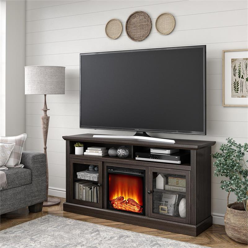 """Ameriwood Home Chicago Fireplace Tv Stand Up To 65"""" In With Regard To Chicago Tv Stands For Tvs Up To 70"""" With Fireplace Included (View 5 of 20)"""