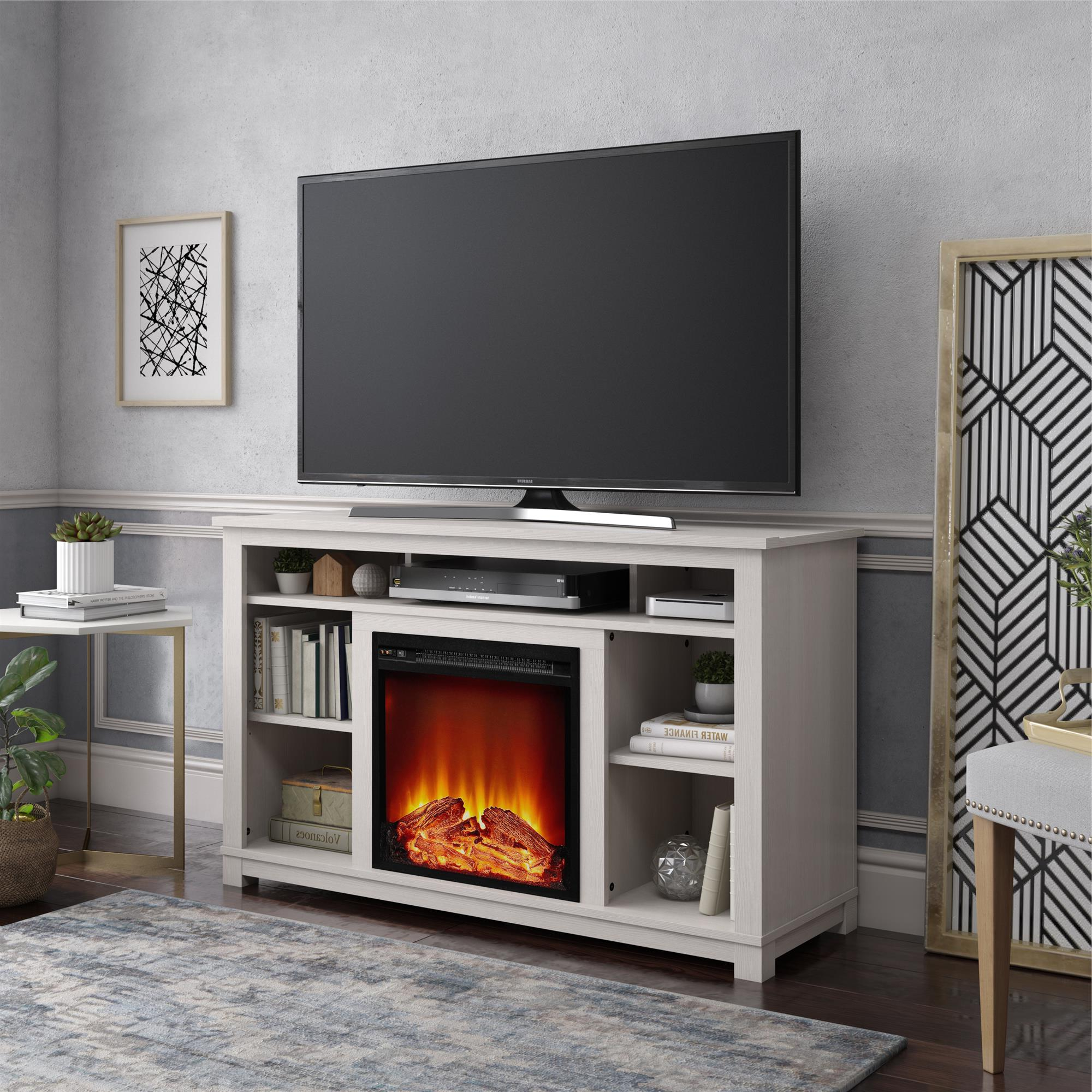 """Ameriwood Home Edgewood Fireplace Tv Stand For Tvs Up To With Regard To Twila Tv Stands For Tvs Up To 55"""" (View 5 of 20)"""