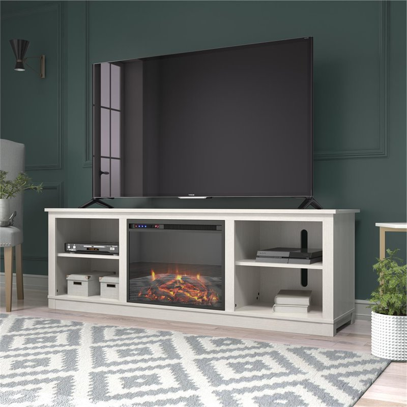 """Ameriwood Home Edgewood Fireplace Tv Stand Up To 75"""" In With Regard To Chrissy Tv Stands For Tvs Up To 75"""" (View 7 of 20)"""