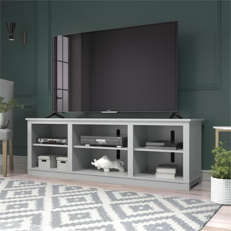 """Ameriwood Home Edgewood Tv Stand For Tvs Up To 75"""" In Dove In Penelope Dove Grey Tv Stands (View 2 of 20)"""