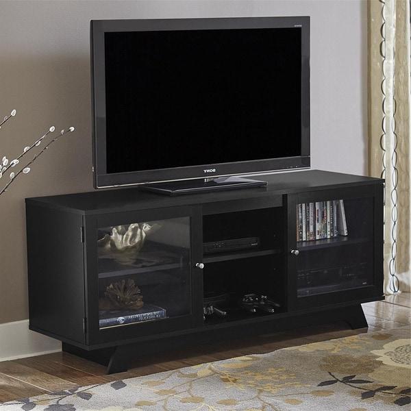 "Ameriwood Home Englewood Black 55 Inch Tv Stand In Basie 2 Door Corner Tv Stands For Tvs Up To 55"" (View 7 of 20)"