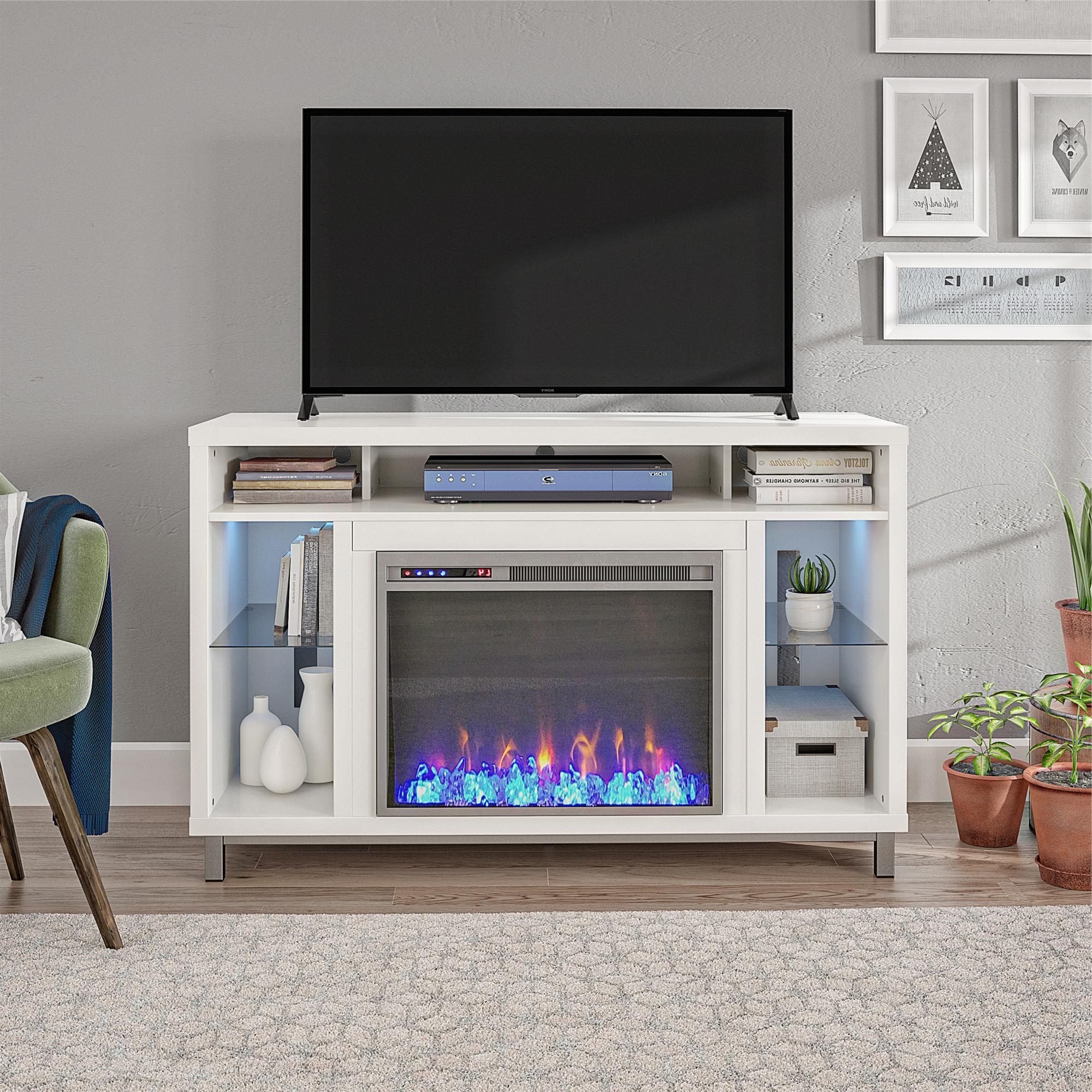 Ameriwood Home Lumina Fireplace Tv Stand For Tvs Up To 48 For Oliver Wide Tv Stands (View 7 of 20)