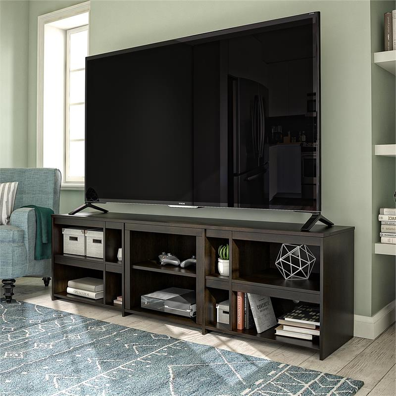 """Ameriwood Home Miles Tv Stand Up To 70"""" In Espresso Within Glass Tv Stands For Tvs Up To 70"""" (View 5 of 20)"""