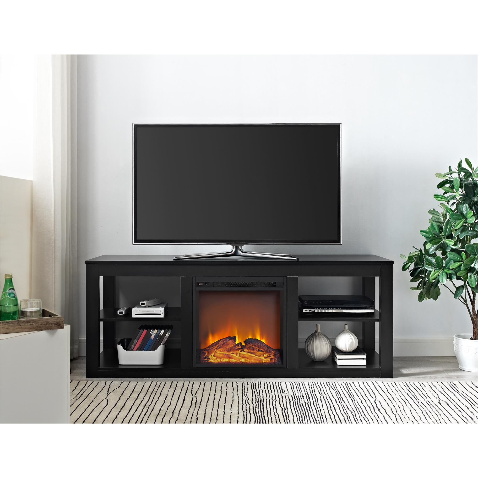 """Ameriwood Home Parsons 65"""" Console Fireplace, Multiple For Mainstays Tv Stands For Tvs With Multiple Colors (View 14 of 20)"""