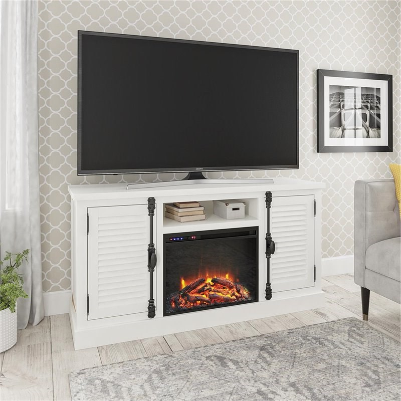 """Ameriwood Home Sienna Park Fireplace Tv Stand Up To 65"""" In Intended For Neilsen Tv Stands For Tvs Up To 65"""" (View 12 of 20)"""