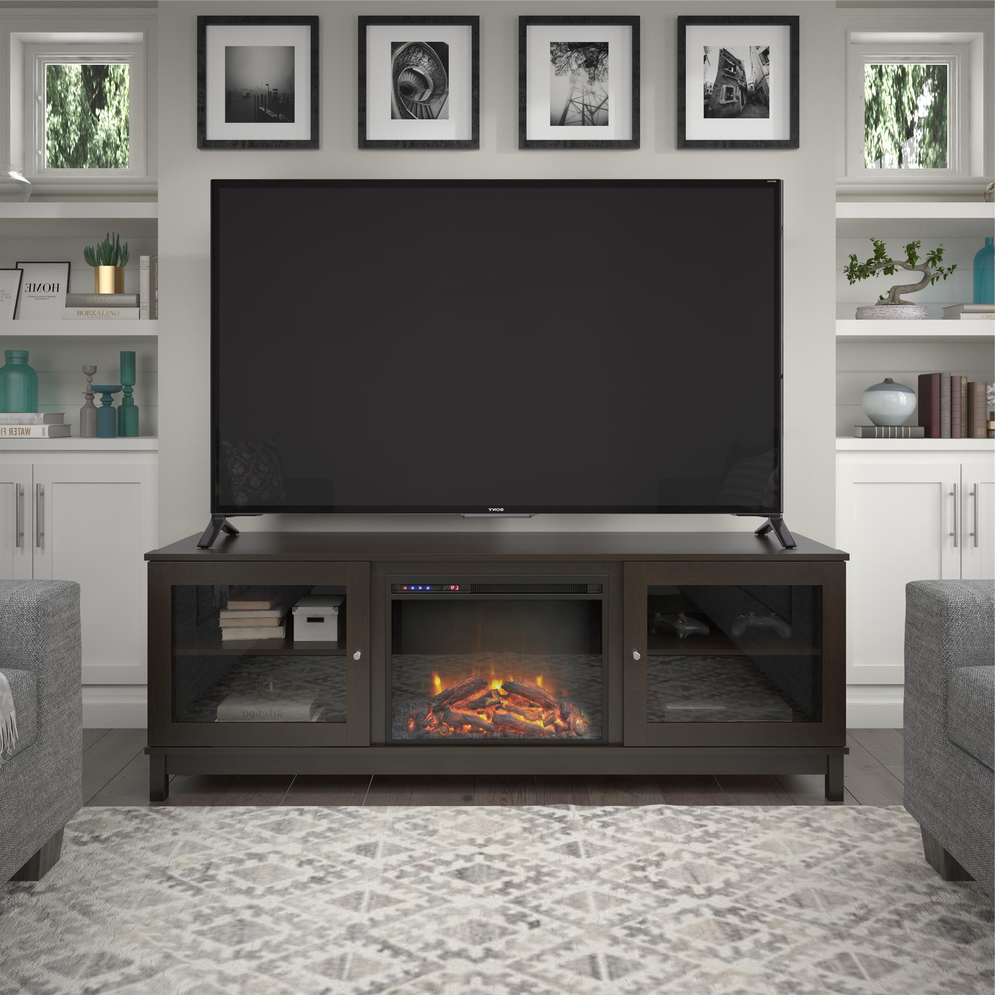 """Ameriwood Home Swanson Fireplace Tv Stand For Tvs Up To 70 Pertaining To Broward Tv Stands For Tvs Up To 70"""" (View 7 of 20)"""