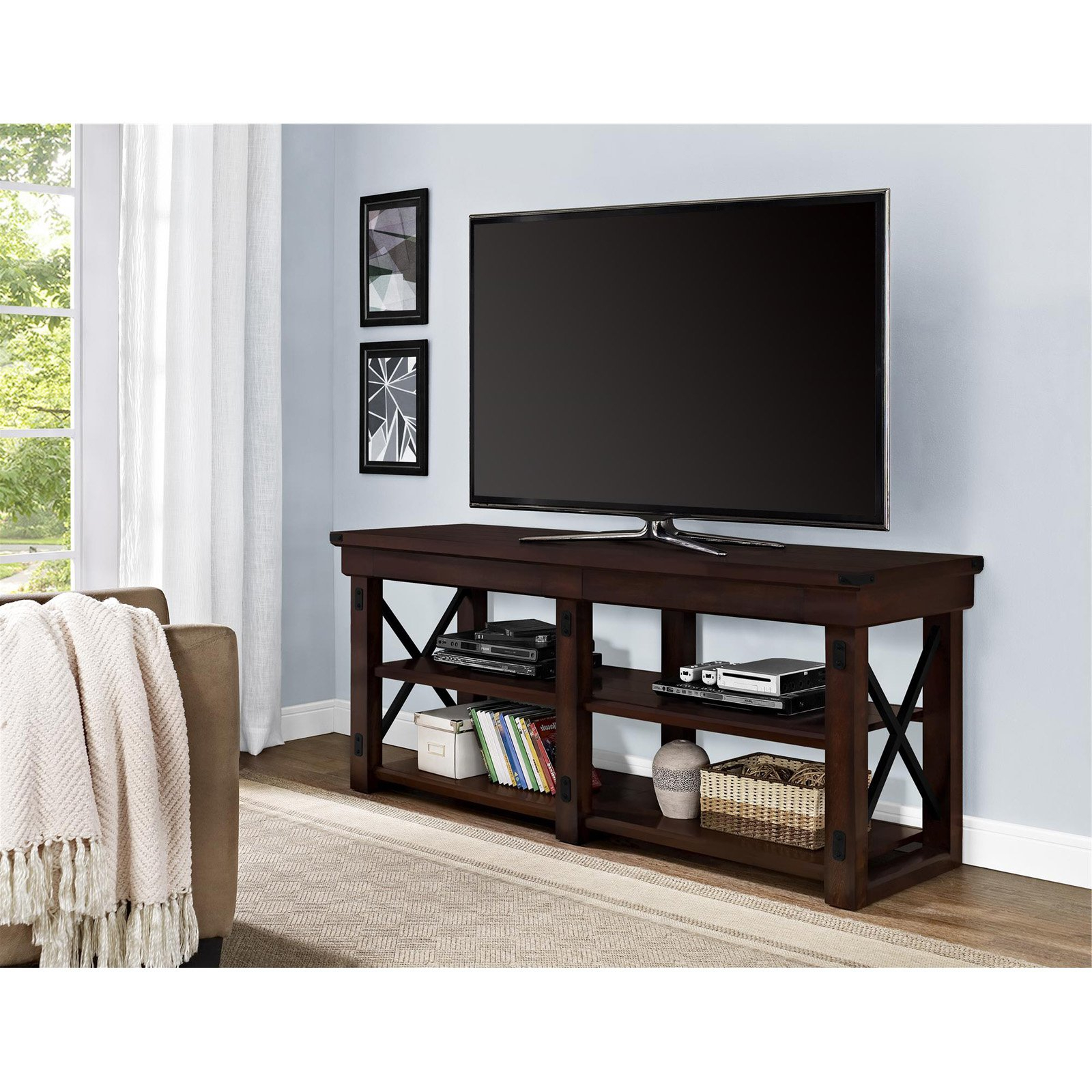 Ameriwood Home Wildwood Tv Stand For Tvs Up To 65 With Mainstays Tv Stands For Tvs With Multiple Colors (View 6 of 20)