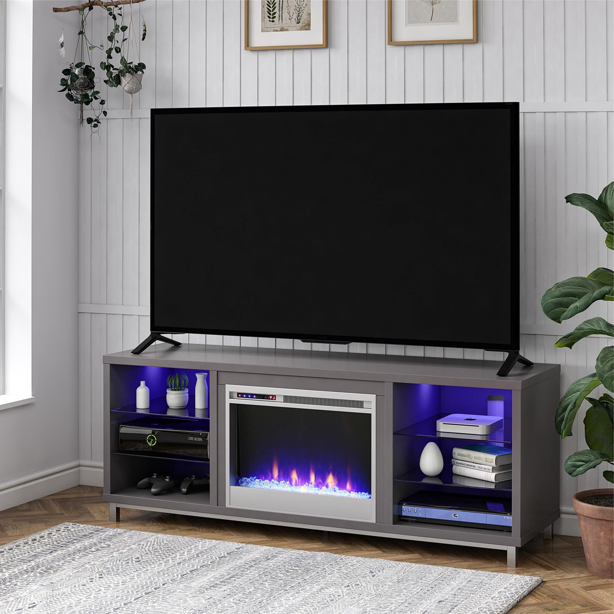 """Ameriwood Lumina Fireplace Tv Stand For Tvs Up To 70"""" Wide With Regard To Chicago Tv Stands For Tvs Up To 70"""" With Fireplace Included (View 16 of 20)"""