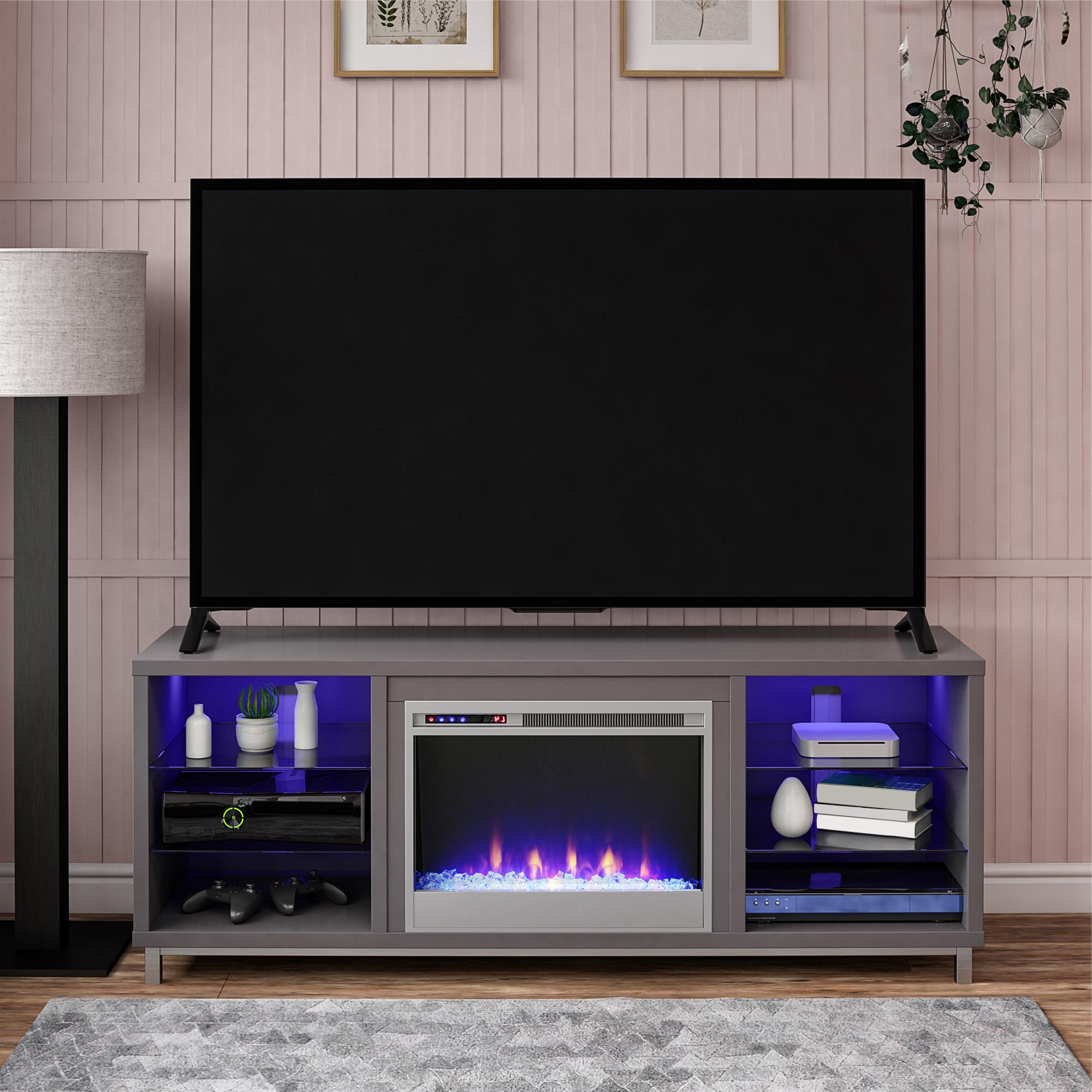 """Ameriwood Lumina Fireplace Tv Stand For Tvs Up To 70"""" Wide With Regard To Jackson Wide Tv Stands (View 7 of 20)"""