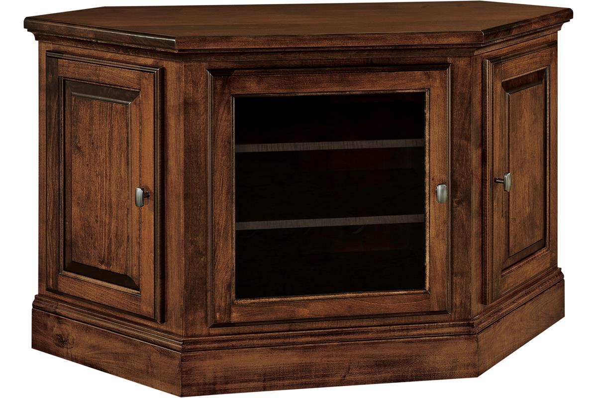 Amish Kincade Corner Tv Stand Pertaining To Lucy Cane Cream Corner Tv Stands (View 10 of 20)