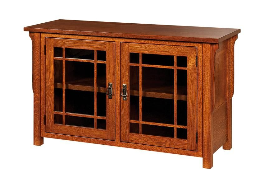 Amish Lancaster Mission Style Tv Stand – No Drawers Pertaining To Lancaster Corner Tv Stands (View 15 of 20)