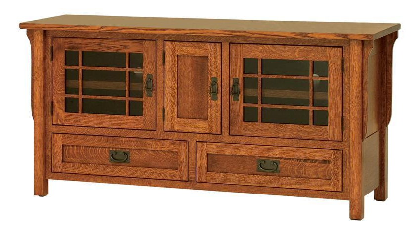 Amish Lancaster Mission Tv Stand With Three Doors Within Lancaster Corner Tv Stands (View 8 of 20)