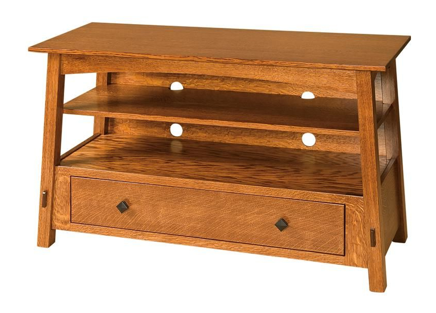 """Amish Mccoy Mission Tv Stand With Drawer 